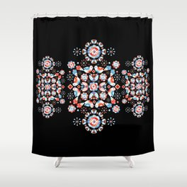 Folkloric Ombre Lovebirds Shower Curtain