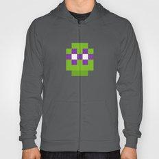 hero pixel green purple Hoody