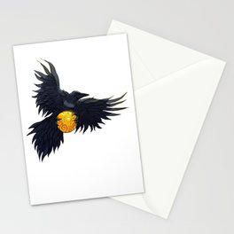 Crow Grabbing Sphere Stationery Cards