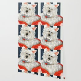 Dog Westie Terrier Original painting Deb Harvey Art Rose Wallpaper