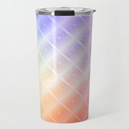 Colorful Lines and Stars Travel Mug