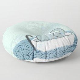 Elephant Takes A Bath Floor Pillow