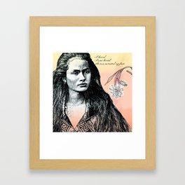 Poetry Girls: Navajo Girl Framed Art Print