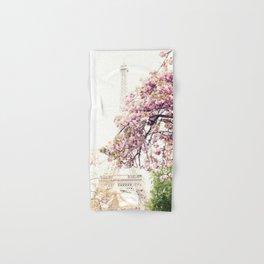 Cherry blossoms in Paris, Eiffel Tower II Hand & Bath Towel