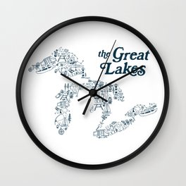 The Greatest Lakes Wall Clock