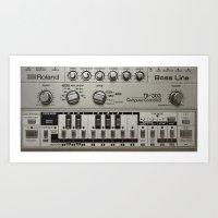 Roland TB303 acid bassline Art Print