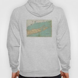 Vintage Map of Suffolk County NY (1895) Hoody