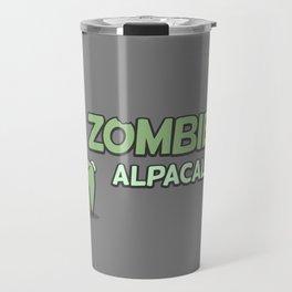 Zombie Alpacalypse Travel Mug