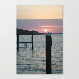 Sunset and the Sea Canvas Print