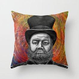 Psychodelic Scrooge's Epiphany Throw Pillow