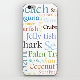 Beach Theme iPhone Skin