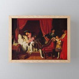 Jean-Auguste-Dominique Ingres - The Death of Leonardo da Vinci Framed Mini Art Print