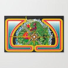 Classic Centipede Woodcut Canvas Print