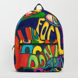 Don't Criticize others.. Psychedelic art Backpack