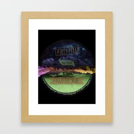 Pikes Peak Graphic Framed Art Print