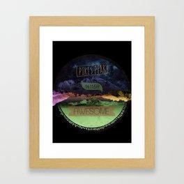 Pikes Peak Graphic Framed Art Print