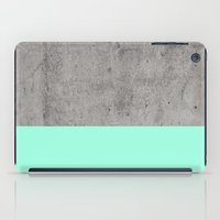 concrete iPad Cases featuring Sea on Concrete by cafelab