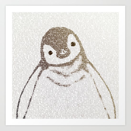 The Little Intellectual Penguin Art Print