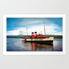 Waverley Paddle Boat (Painting) Art Print