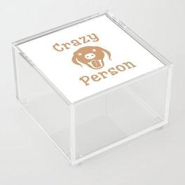 Crazy Dog Person [FOR WHITE] Acrylic Box