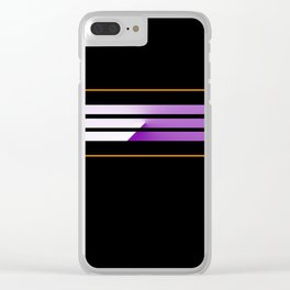 TEAM COLORS 5....Orange,purple Clear iPhone Case