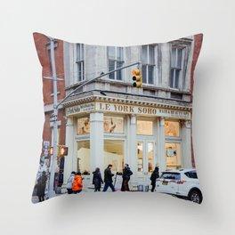 Corner street in Soho New York, USA | Architecture photography | Streets of New York City | Fine art wanderlust Throw Pillow