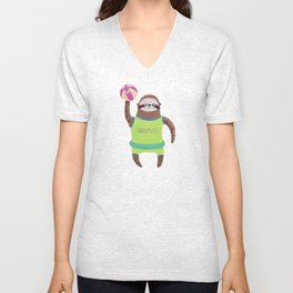 Summer Sloth Season Unisex V-Neck