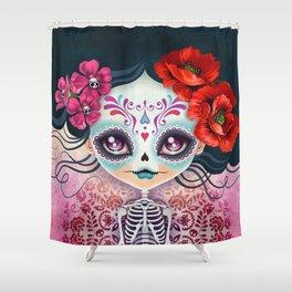 Amelia Calavera - Sugar Skull Shower Curtain