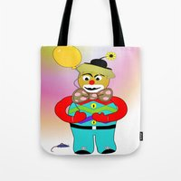 clown Tote Bags featuring Clown by LoRo  Art & Pictures
