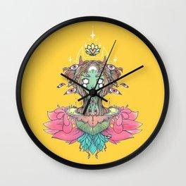 Sacred Lotus Blossom Monster Girl Wall Clock