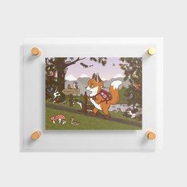 Foxy Trail Floating Acrylic Print