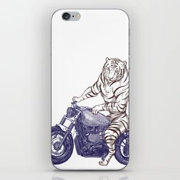 Tiger on a Motorcycle iPhone Skin