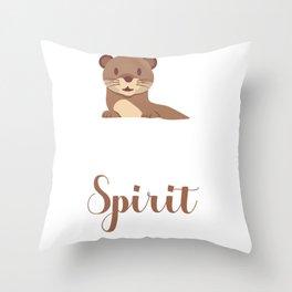 Otter soul mate animal Funny Spirit Gift Throw Pillow