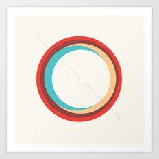 Future Globes 005 Art Print