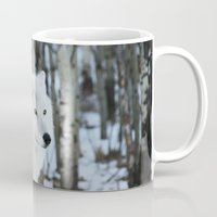 wolves Mugs featuring Wolves by Danielle Perry