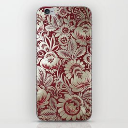Christmas stocking in petrykivka style iPhone Skin