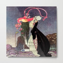 "Kay Nielsen Illustration from ""Powder and Crinoline"" Metal Print"