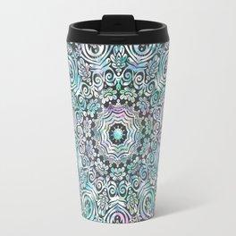 Mermaid Mandala on Deep Gray Travel Mug