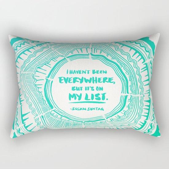 My List – Turquoise Ombré Rectangular Pillow