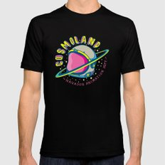 cosmoland 02 Mens Fitted Tee LARGE Black