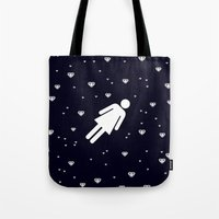lucy Tote Bags featuring Lucy by Viktor Hertz