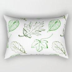 Leaves (greens) Rectangular Pillow