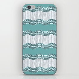 Wavy River in Teal IV iPhone Skin