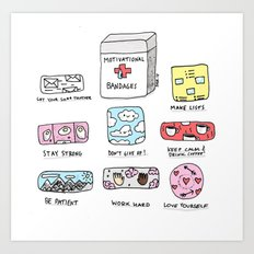 Emotional First Aid Kit Art Print