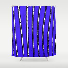 Blue Seaweed Shower Curtain