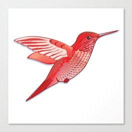Red hummingbird colibri. Canvas Print