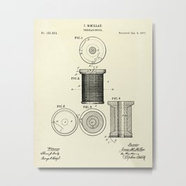 Thread Spool-1877 Metal Print