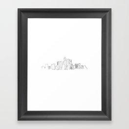 Los Angeles Skyline Drawing Framed Art Print