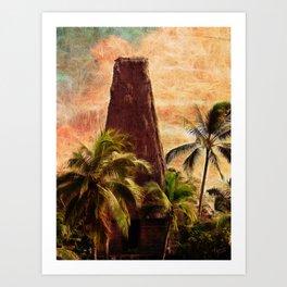 Fijian Temple Art Print