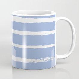 Irregular Hand Painted Stripes Light Blue Coffee Mug